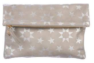 Clare Vivier Leather Fold-Over Clutch