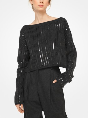 Michael Kors Sequined Cashmere Sweater