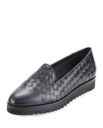 Sesto Meucci Naia Woven Leather Loafer, Navy
