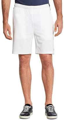 Izod Mens Mid Rise Stretch Moisture Wicking Elastic Waist Pull-On Shorts