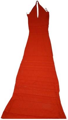 Ronny Kobo Orange Wool Dress for Women