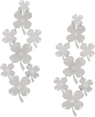 Paco Rabanne drop clover earrings