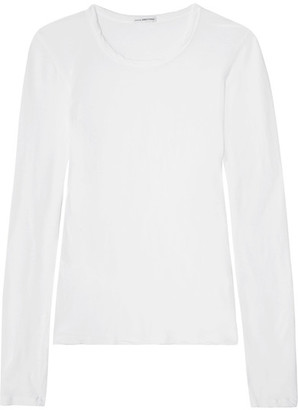 James Perse - Little Boy Tee Brushed-cotton Top - White $135 thestylecure.com