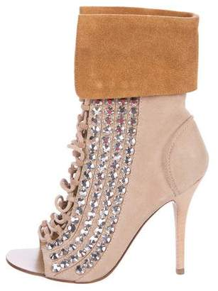 Giuseppe Zanotti Embellished Lace-Up Ankle Boots