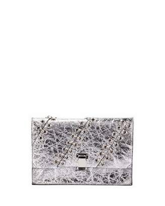 Proenza Schouler Small Metallic Leather Lunch Bag, Silver $955 thestylecure.com