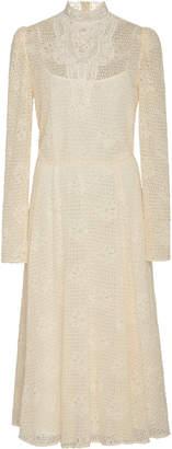 Philosophy di Lorenzo Serafini High-Neck Lace Midi Dress