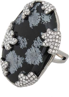 COLETTE JEWELRY Snowflake Obsidian Ring
