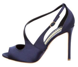 Rupert Sanderson Satin New Jewel Pumps w/ Tags