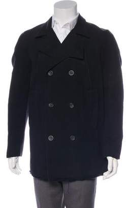 Helmut Lang Distressed Double-Breasted Coat