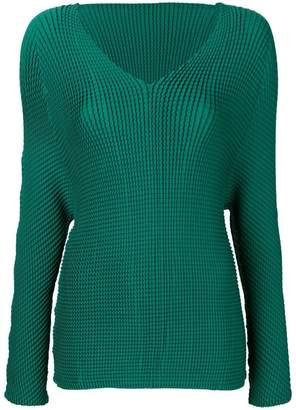 Issey Miyake V-neck blouse