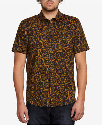 Volcom Men's Turntail Tile-Print Shirt