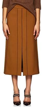 Derek Lam Women's Slit-Front Wool Gabardine Pencil Skirt