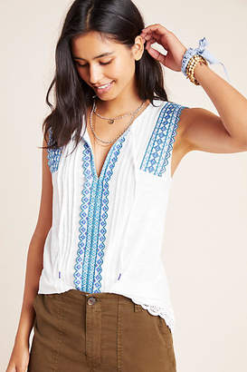 Anthropologie Sigrid Embroidered Tank