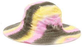 Ganni Shiloh Tie Dye Effect Cotton Bucket Hat - Womens - Multi