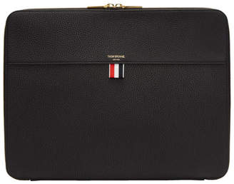 Thom Browne Black Zip Around Soft Document Holder