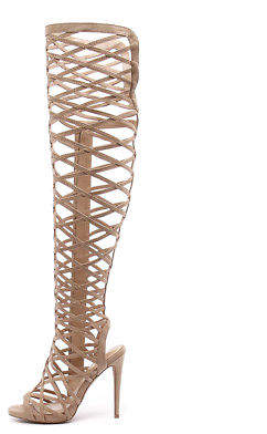 Wanted New Geiger Nude Womens Shoes Casual Sandals Heeled