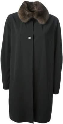 Liska sable collar overcoat