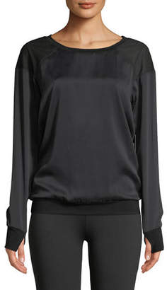 Blanc Noir Natoma Long-Sleeve Pullover Sweater