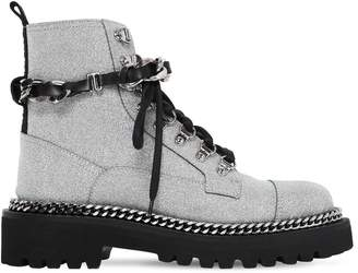 Balmain 40mm Army Glittered Combat Boots