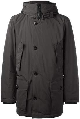 Woolrich hooded buttoned jacket