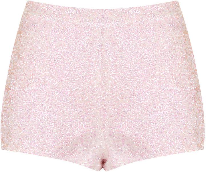 Topshop Sequin Knicker Shorts