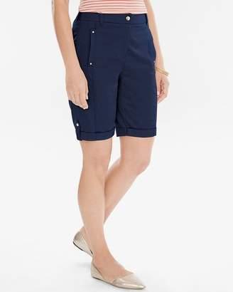 Chico's Chicos Comfort Waist Utility Shorts- 10 Inch Inseam