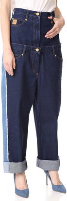 Natasha Zinko High Waist Double Jeans $695 thestylecure.com