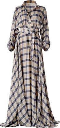 DANEH Maxi Plaid Dress