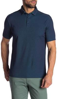 Stone Rose Two Tone Technical Knit Polo Shirt