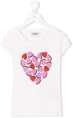 Moschino Kids heart logo print T-shirt