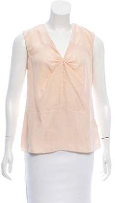 Marni Bow-Accented Silk Top