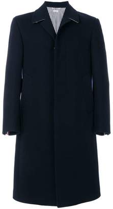 Thom Browne Classic Single-Breasted Melton Wool Overcoat