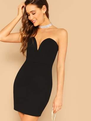 b85502f149 Shein Sweetheart Neckline Tube Bodycon Dress