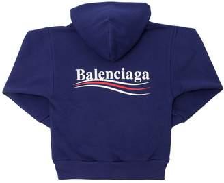 Balenciaga Logo Printed Cotton Sweatshirt Hoodie