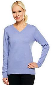 Denim & Co. Essentials Long Sleeve V-neckSweater