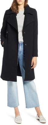 Halogen Double Fold Collar Wool Blend Coat