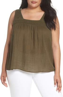 4ef052d6db5 ... Caslon Embroidered Neck Swing Tank