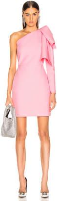 MSGM One Shoulder Crepe Dress