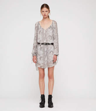 AllSaints Chesca Snake Dress