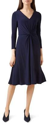 Hobbs London Araminta Twist-Front Dress