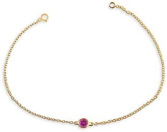 Luxeworks New York 14K Yellow Gold & Pink Sapphire Bracelet