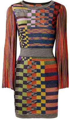 Missoni Metallic Stretch-Knit Mini Dress