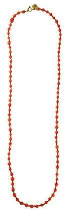 Ashley Pittman Coral Shanga Beaded Necklace