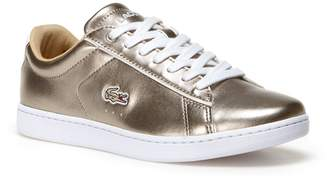 Lacoste Women's Carnaby Evo Low-Rise Metallic Leather Sneakers