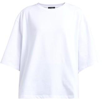 Raf Simons Pierced Mouth Guy Cotton T Shirt - Womens - White Multi