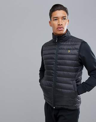 Farah Sport Dalmeny padded vest in black