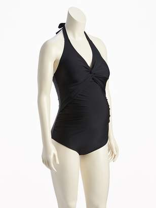 Old Navy Maternity Twist-Front Halter Swimsuit