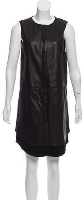 Rag & Bone Leather Button-Up Dress