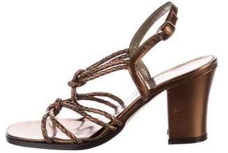 Saint Laurent Braided Leather Sandals