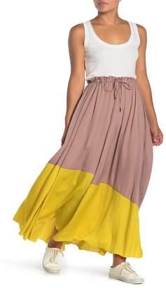 Free People Allure Colorblock Maxi Skirt